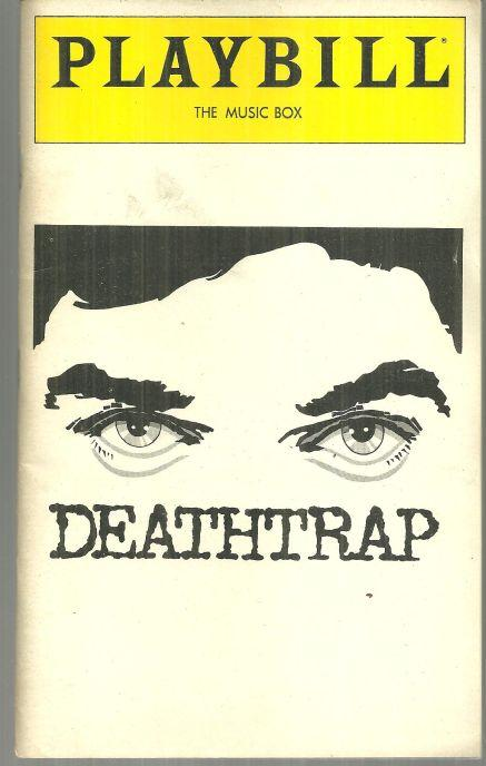 Playbill John Cullum in Deathtrap By Ira Levin February 1980 Music Box Theatre