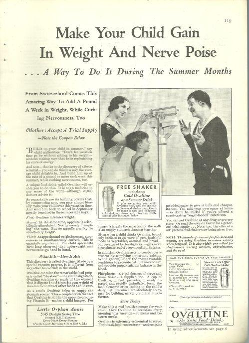 1932 Good Housekeeping Magazine Advertisment for Ovaltine For Child Growth