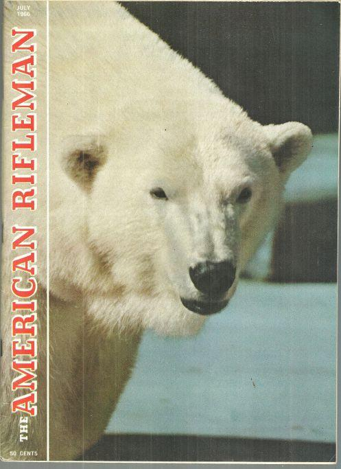 American Rifleman Magazine July 1966 In Danger of Extinction Polar Bear on Cover