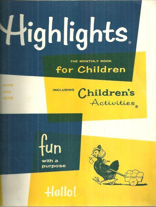 Highlights For Children Magazine June/July 1979 Thomas Edison
