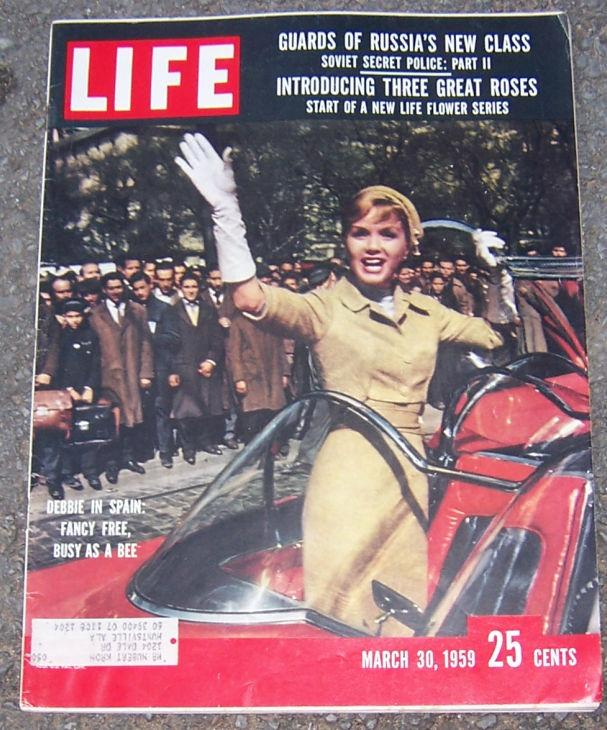 Life Magazine March 30, 1959 Debbie Reynolds in Spain on Cover