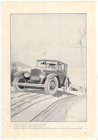Kelly-Springfield Flexible Tires 1926 Advertisement
