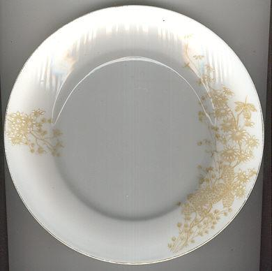Carlsbad Austrian China Plate with Brown Flowers