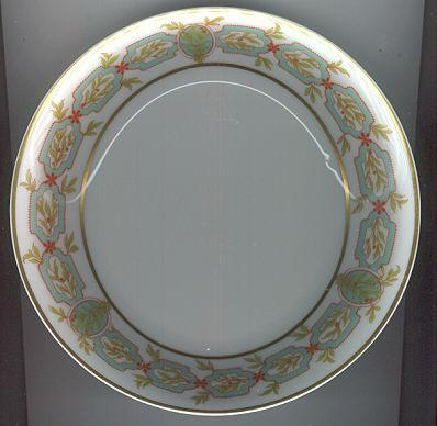 Haviland Limoges Flat Soup Bowl Green Garland Design