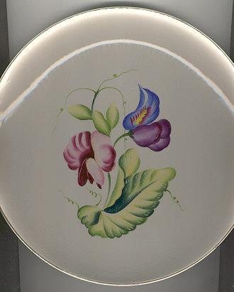 Matsumura Occupied Japan Plate with Bright Flowers