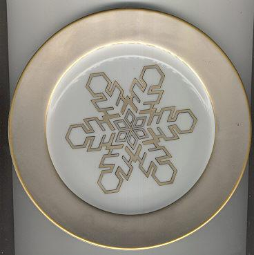 American Atelier Flurries Desert Plate