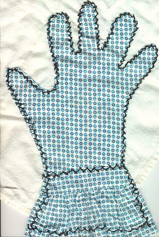 Dusting Cloth with Handstitched Glove
