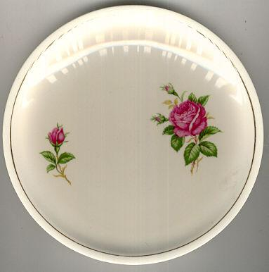 Paden City Pottery Pink Roses Small Plate