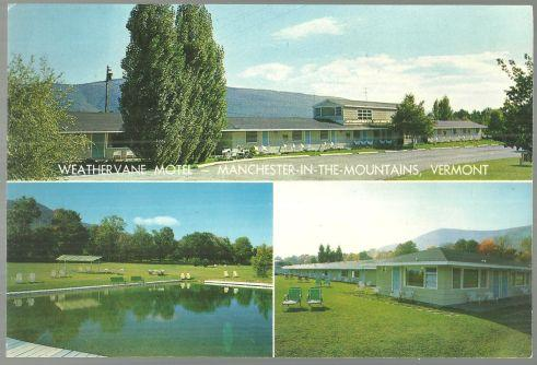 Giant Postcard of Weathervane Motel, Manchester in the Mountains, Vermont