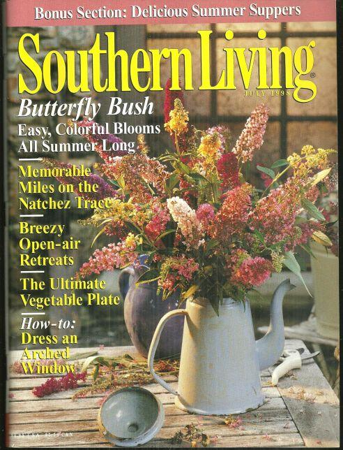 Southern Living Magazine July 1998 Summer Suppers and Natchez Trace