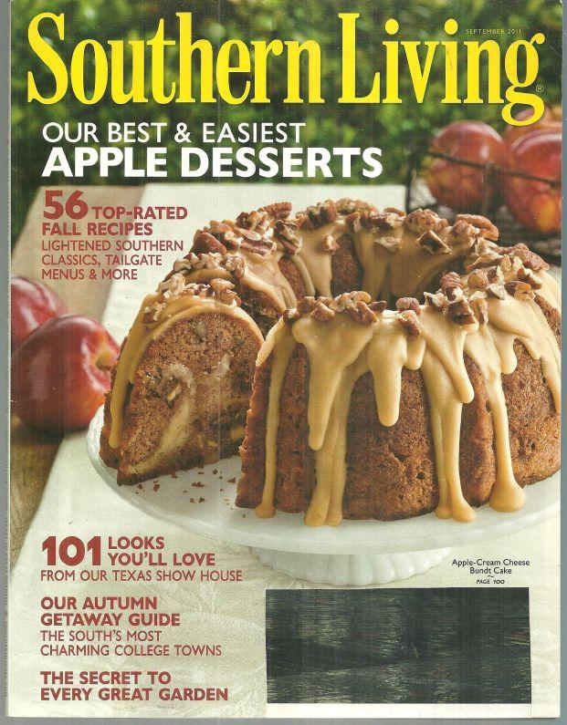 Southern Living Magazine September 2011 Mississippi Delta and Apple Desserts