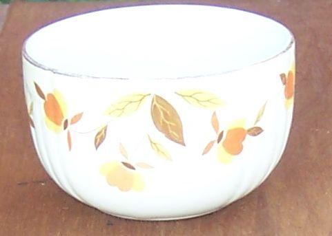 Vintage Hall China Jewel Tea Autumn Leaf Custard Dish