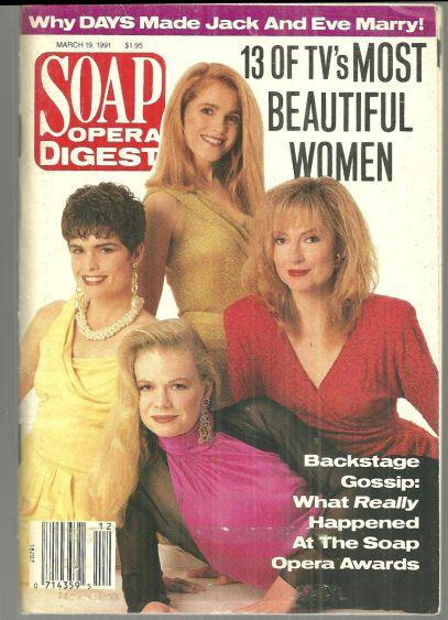 Soap Opera Digest March 19, 1991 TV's Beautful Women on the Cover