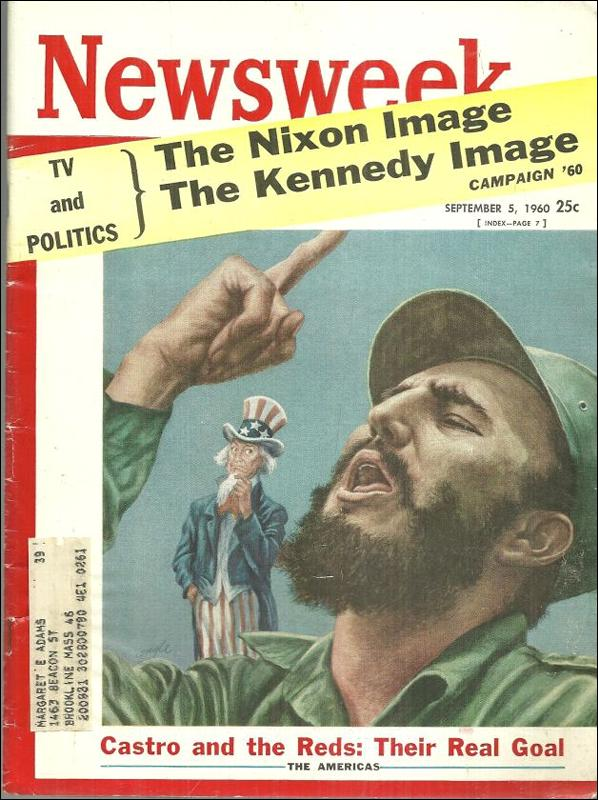 Newsweek Magazine September 5, 1960 Castro and the Reds on the Cover