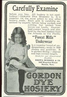 Gordon Dye Hosiery 1901 Magazine Advertisement