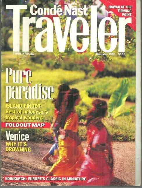 Conde Nast Traveler Magazine December 1992 Pure Paradise Island Finder