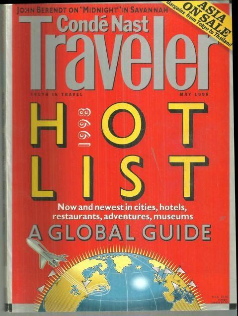 Conde Nast Traveler Magazine May 1998 Hot List/Volcanoes/The New Grand Tour/NYC