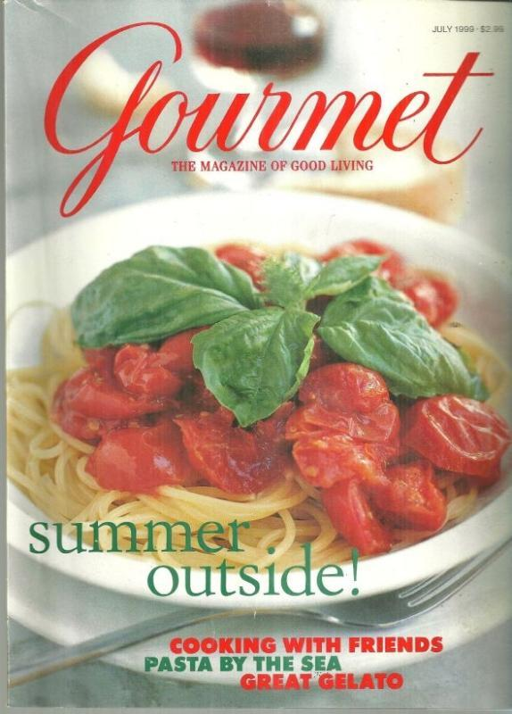 Gourmet Magazine July 1999 Flavors of Capri on Cover