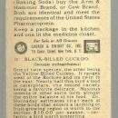 Victorian Trade Card for Arm and Hammer Useful Birds Black-Billed Cuckoo