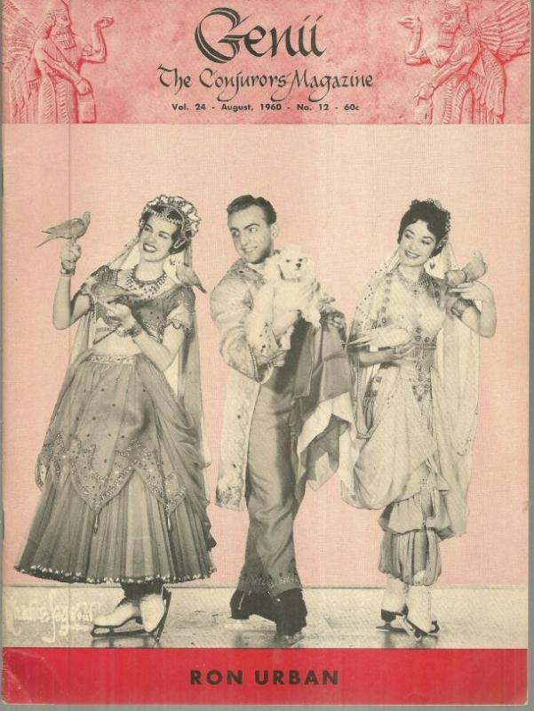 Genii Magazine August 1960 Ron Urban on Ice Skates on Cover