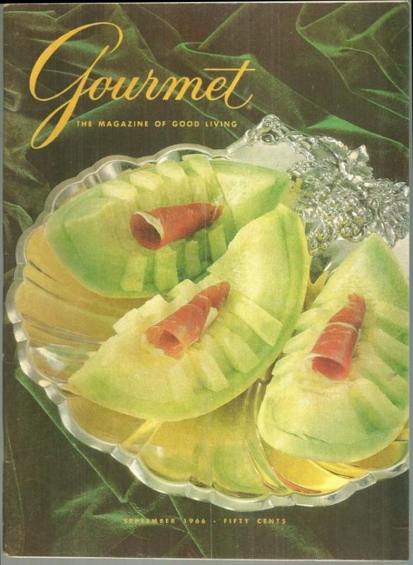 Gourmet Magazine September 1966 Gascony and Guyenne/Melon/Buffet Dinners