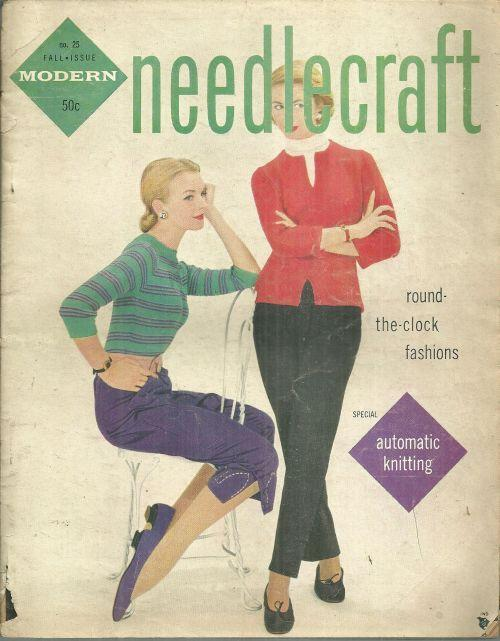Modern Needlecraft Magazine Fall 1955 Cottons For Fall/Nine To Five/After Dark
