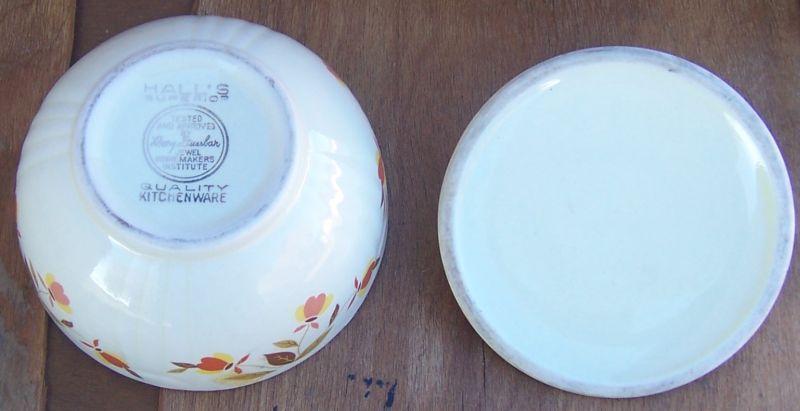 Vintage Hall's China Jewel Tea Grease Jar with Lid