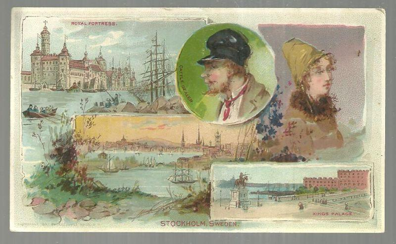 Victorian Trade Card for Arbuckle Bros. Coffee with Stockholm, Sweden