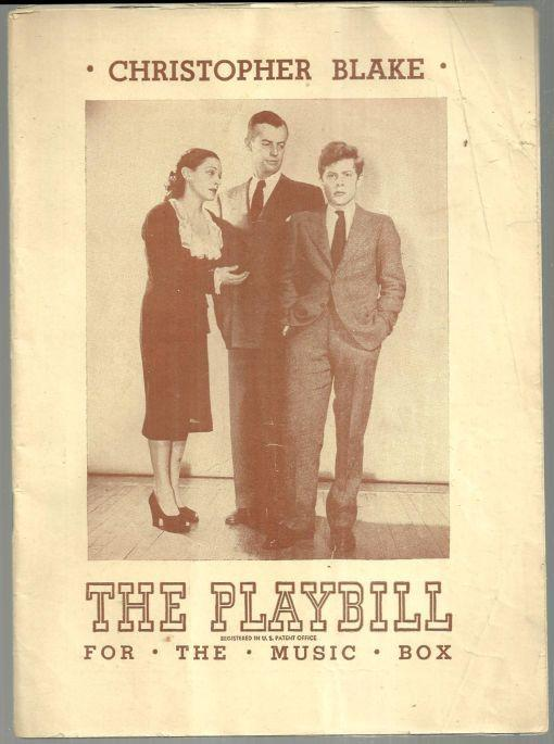 Playbill Christopher Blake by Hart 1947 Starring Shepperd Strudwick Vintage Ads