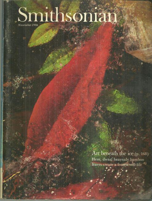 Smithsonian Magazine November 1986 Art Beneath the Ice on cover/Henri Matisse