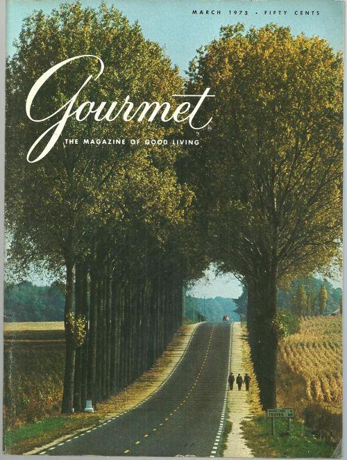 Gourmet Magazine March 1973 Champagne Country/Martinique/Cheese/Corodoba