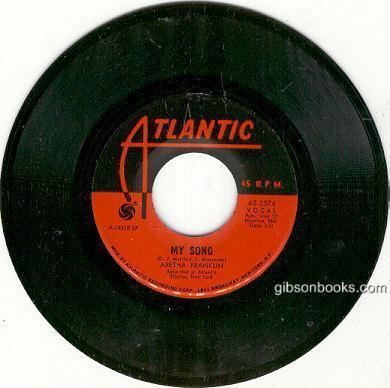 Aretha Franklin Sings See Saw and My Song 45RPM Atlantic Records 45-2574