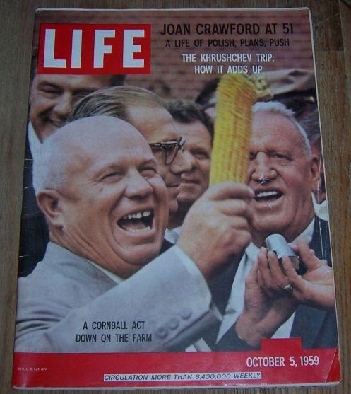 Life Magazine October 5, 1959  Khrushchev Tours the US/Joan Crawford/X-15 Rocket