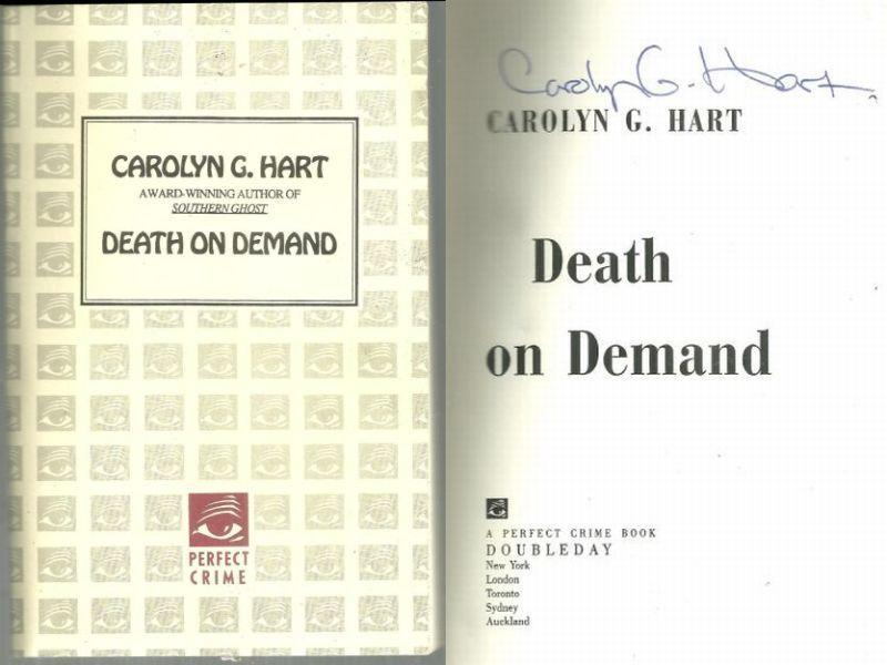 Death on Demand Signed Review Copy by Carolyn Hart 1993 Cozy Mystery