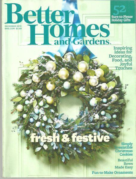 Better Homes and Gardens Magazine December 2012 Fresh and Festive/Cookies