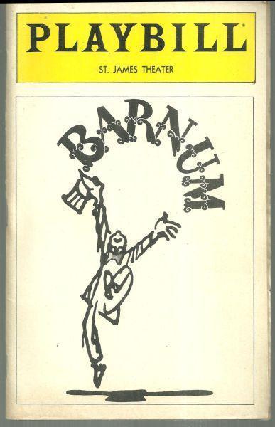 Playbill Barnum The New Musical Starring Jim Dale and Glenn Close February 1981