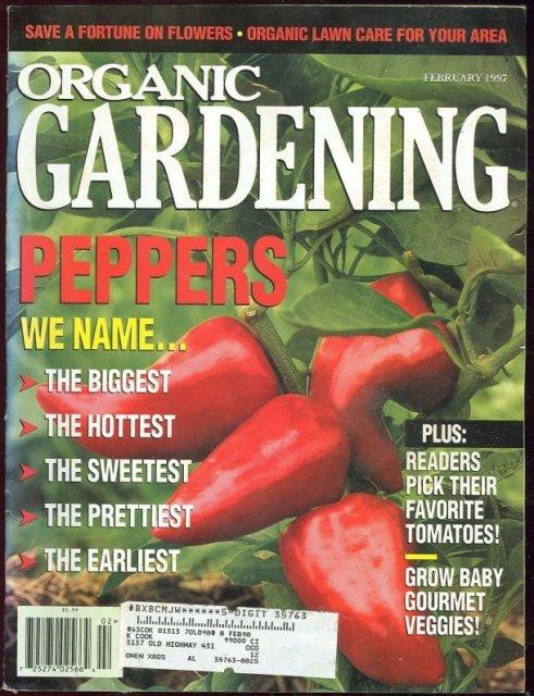 Organic Gardening Magazine February 1997 Peppers
