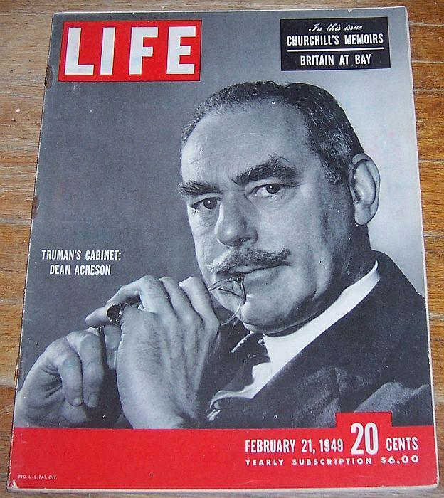 Life Magazine February 21, 1949 Dean Acheson on cover/Truman Cabinet/Elephants