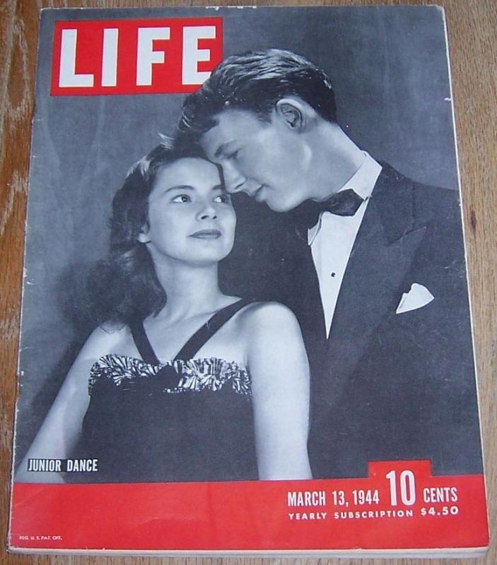 Life Magazine March 13, 1944 Junior Dance cover/Aleutians/Fox Hunt/Purple Heart