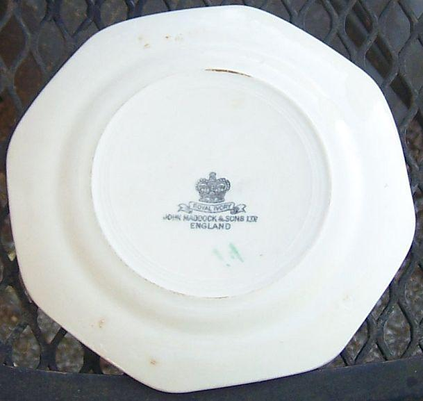 Vintage John Maddock England Royal Ivory China Minerva Small Plate with Flowers