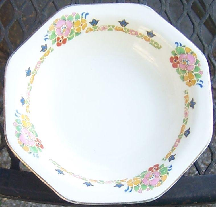 Vintage John Maddock England Royal Ivory China Minerva Berry Bowl with Flowers