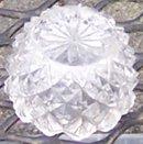 Clear Diamond and Sunburst Open Individual Salt