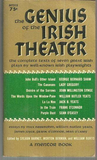Genius of Irish Theater edited by Max Beerbohm 1960 1st edition Anthology