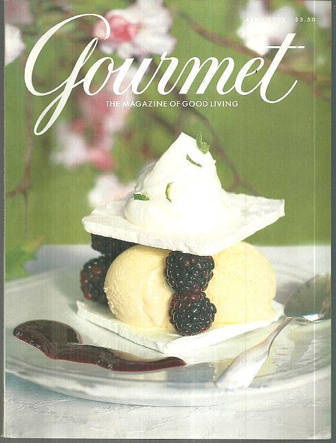 Gourmet Magazine April 2002 Mussels, Passion Plays, Spring Recipes