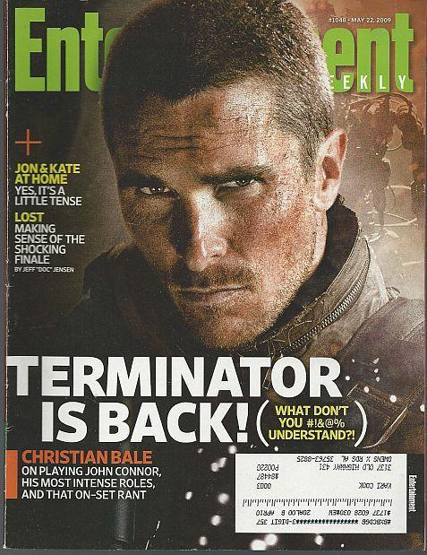 Entertainment Weekly Magazine May 22, 2009 Terminator is Back on Cover/Lost