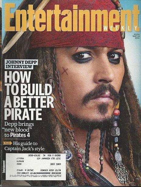 Entertainment Weekly Magazine May 13, 2011 Johnny Depp Pirates 4 on the Cover