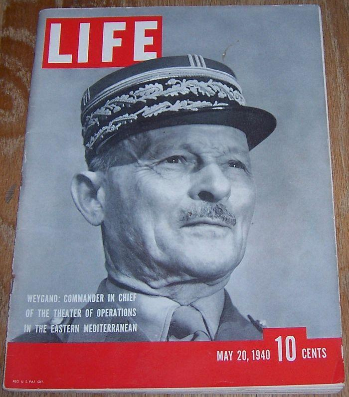 Life Magazine May 20, 1940 French General Maxime Weygand on Cover/War Begins