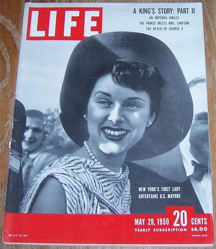 Life Magazine May 29, 1950  New York's First Lady on Cover/Snakes/Red River