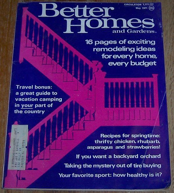 Better Homes and Gardens Magazine May 1971  Urban Orchards/Vacation Camping