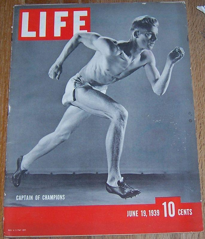Life Magazine June 19, 1939 US Track Stars/ Early American Art Show/Culver